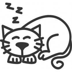 The Sticker Family - Gato Durmiendo C3